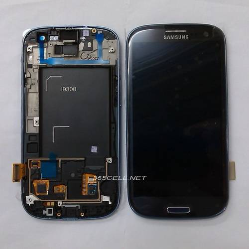 Samsung Galaxy S3 i9300 LCD and digitizer assembly with frame