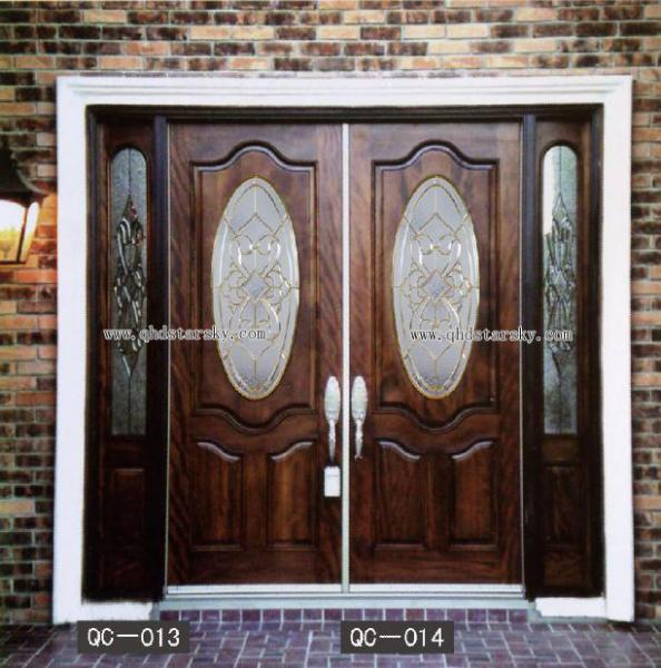 High Quality Inlaid Door Glass Art Glass For Interior Door Glass
