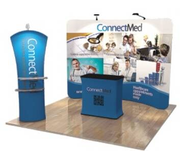 Portable Advertising exhibit stand display
