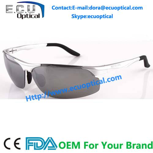2014 New Fashion Aluminum-Magnesium Frame Night-Vision Polarized Driving Sunglasses