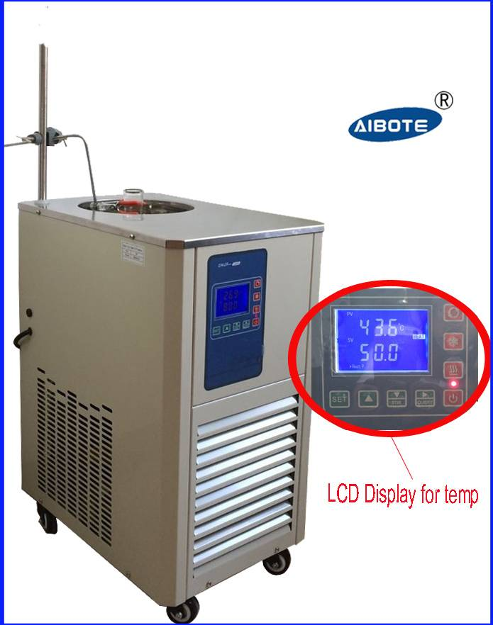 5L,-20 degree LCD Digital portable cooling water bath circulating chiller