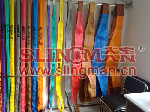 High quality WLL10ton 10000kg Polyester webbing sling flat web sling band
