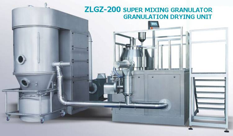 Super mixing granulator granulation drying unit