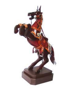 leather sculpture horseKGW-P1123