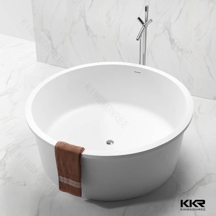 OEM White Free Standing Solid Surface Stone Resin Bathtub,100% Fresh Acrylic bathtub for dubai
