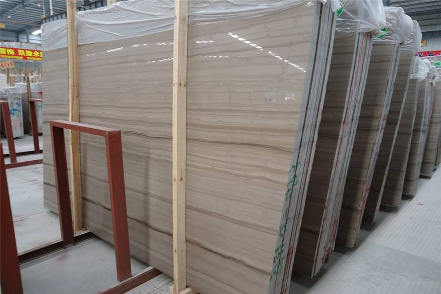 Athens Grey Wooden Marble Slabs & Tiles, China Grey Marble