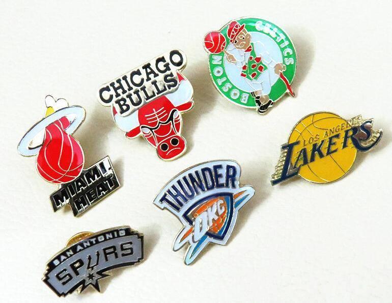all teams American basketball teams NBA badge brooch pin