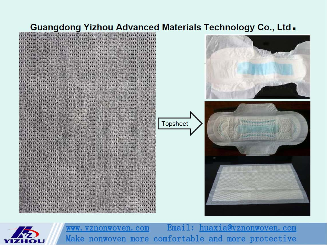 hydrophilic perforated pp spunbond nonwoven fabric for topsheet of baby diaper