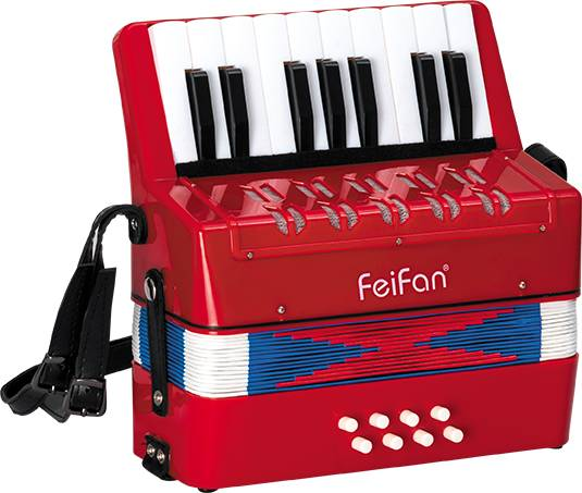 Junior student's 17 key 8 bass musical button accordion for sale