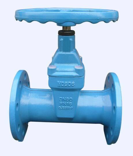 Resilient gate valve brass nut type