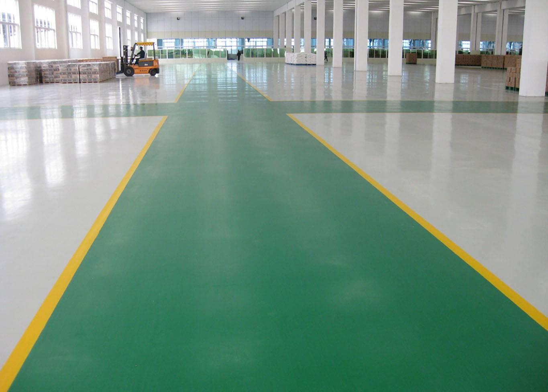Epoxy scratching resistant floor paint