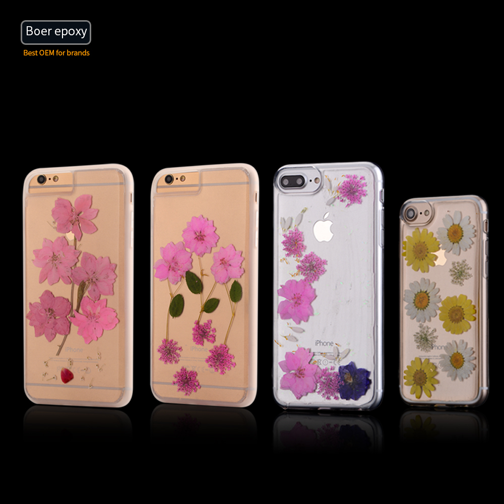Anti gravity real dry flower phone case