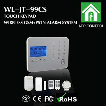 Touch keypad GSM/PSTN wireless alarm panel