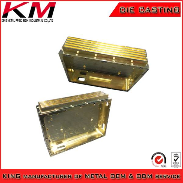 Plating aluminium alloy casted machinery cooling part