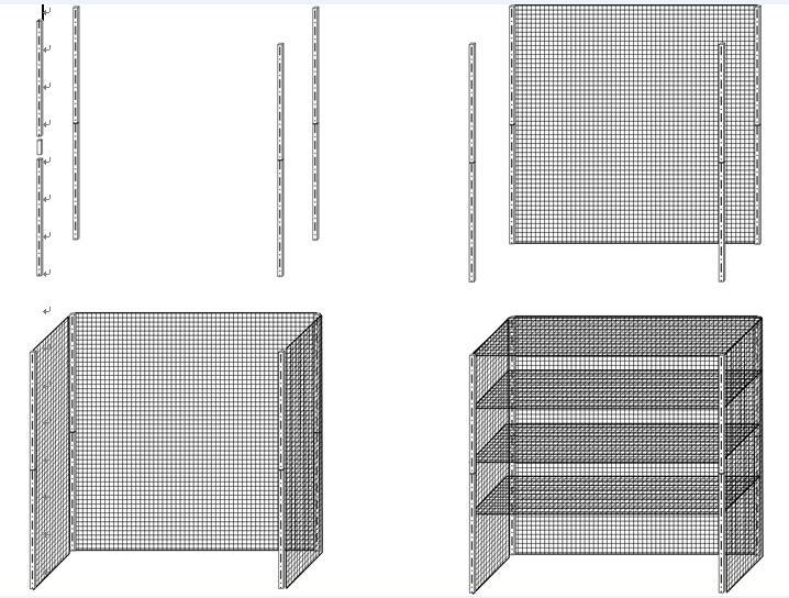 wire shelf Wire shelving rack 1500*600*1800mm commodity shelf