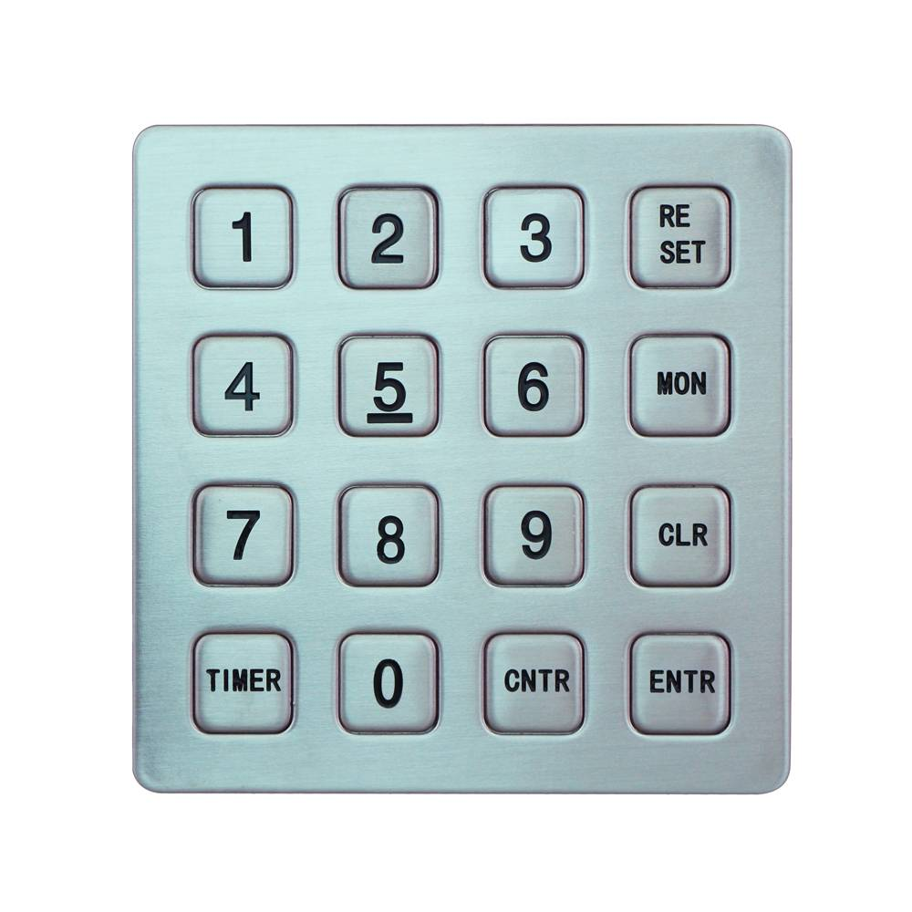 Yuyao hot sale keypad 4x4 matrix connector security keypad ip65 outdoor waterproof metal keypad