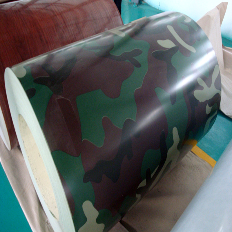 camouflage grain color coated aluminum roofing sheet; aluminum sheet price