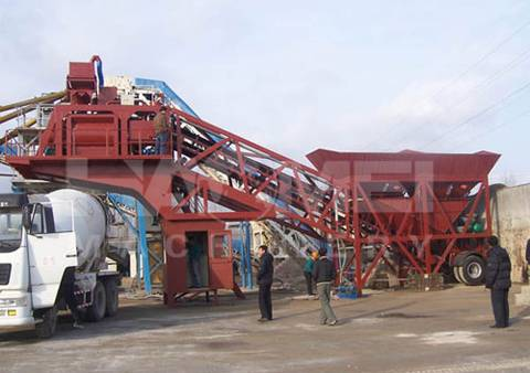 Hot Sale Mobile Concrete Batching Plant For Sale 75m3/h