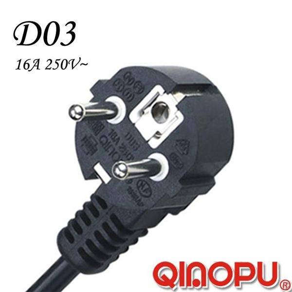 Euro Standard AC Three Wire 90 Degree Angle Power Cord