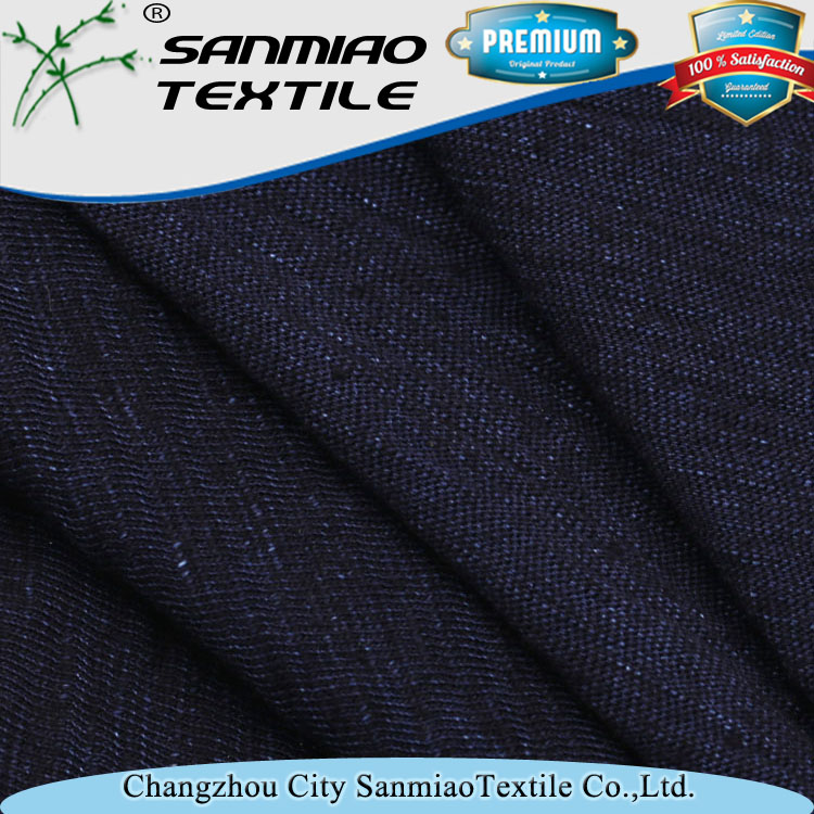 230gsm indigo yarn dyed denim jersey fabric