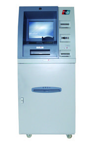 A4 Automatic invoice and bank pass printing touchscreen kiosk