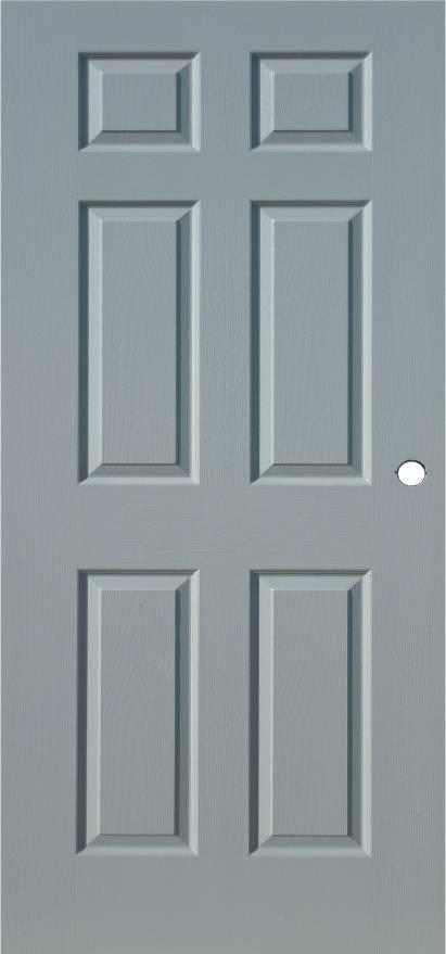 six panel door steel door in white