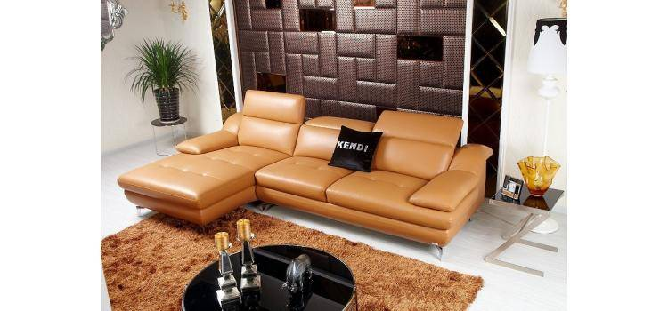 White Modern Leather Sofa Functional