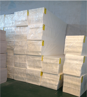 Common density in bulk melamine foam
