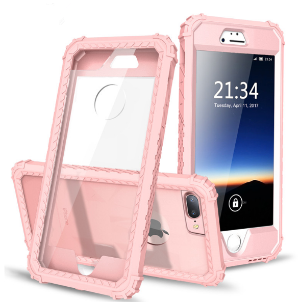 Shockproof Phone Case for iPhone 6 6S 7 Plus,PC+TPU 2-Layers Hybrid Full-Body Protect Cover