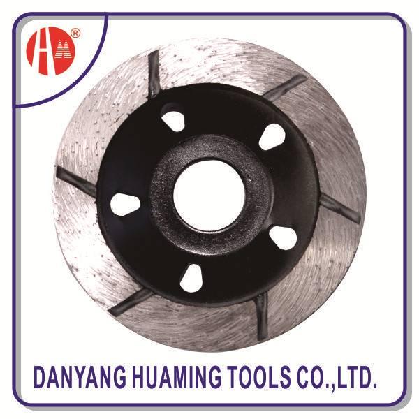 sintered diamond turbo cup grinding wheel