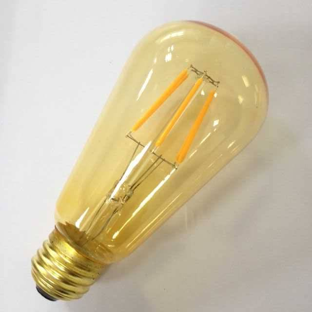 UL cUL ETL approved large squirrel cage led filament ST58 Edison amber tinted