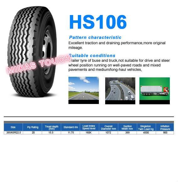 Truck tire-medium/long-haul vehicles