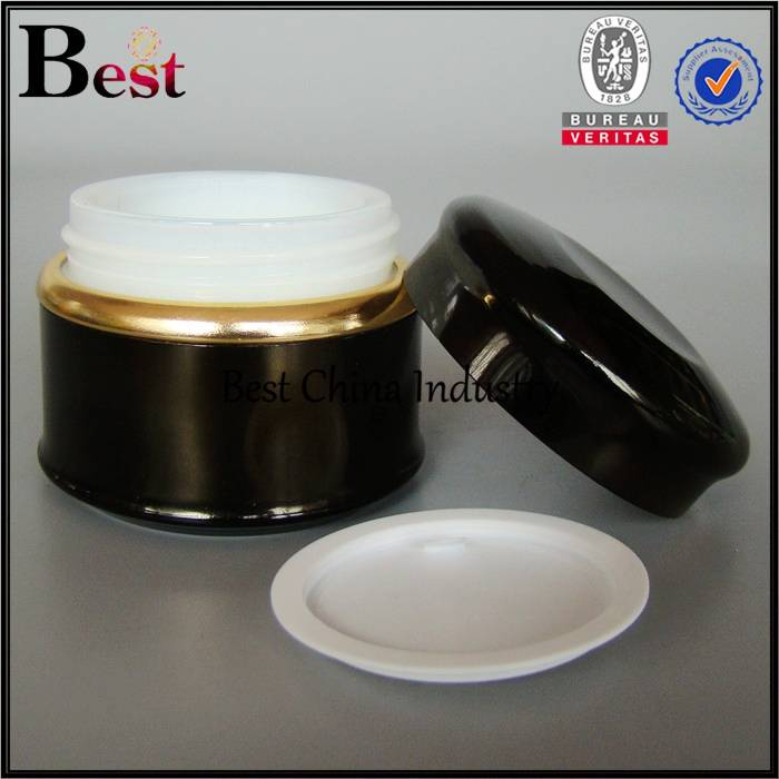 wholesale skin care lightening whitening face cream jar, fancy empaty containers, 2015 newest black