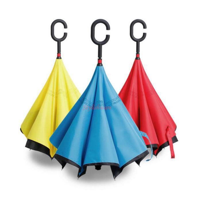 C shape handle upside down umbrella inverted