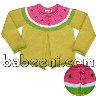 Hand embroidery watermelon girl sweater - BB501