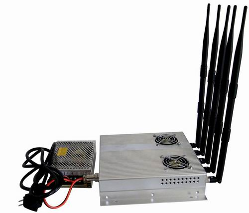 5 Antenna 25W High Power 3G Cell phone Jammer with Outer Detachable Power Supply