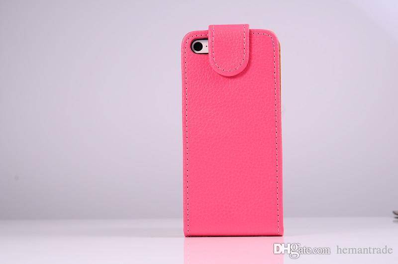 Luxury Flip Leather Case For iPhone 5S 5 Cellphone Cover Holster for Cellphones