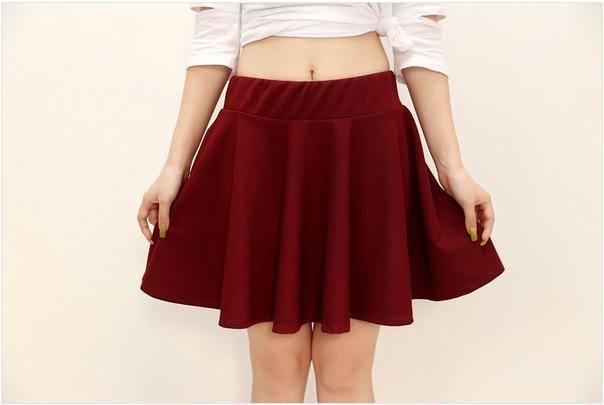 Girl's short skirt