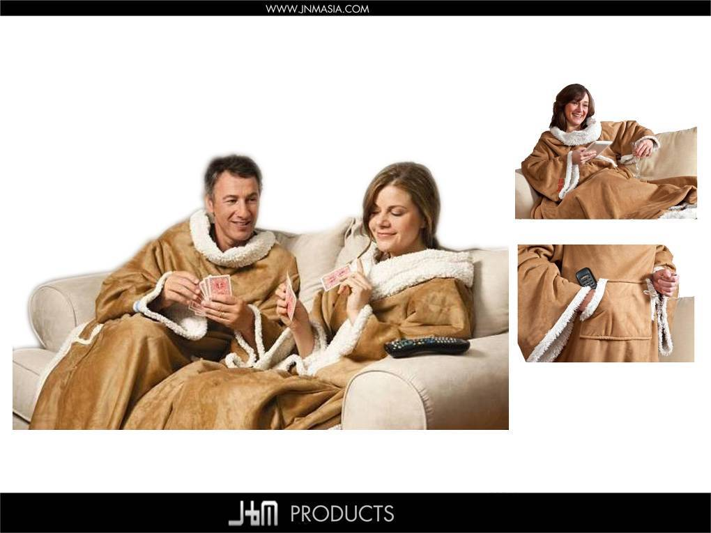 Faux Suede Blanket with Sleeves and with Sherpa Lining