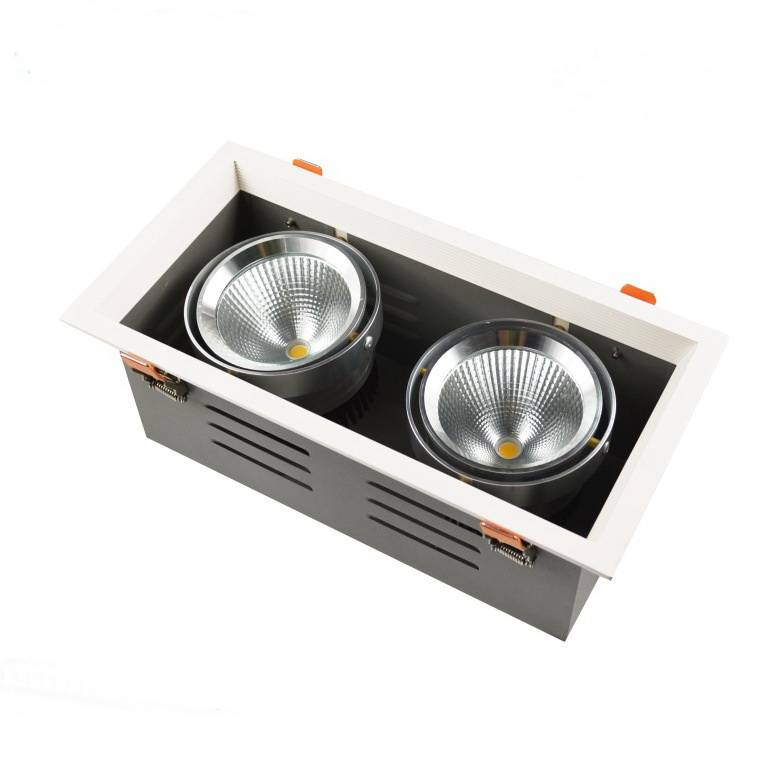 Dimmable LED, 50000H, 50W, double LED grille lights