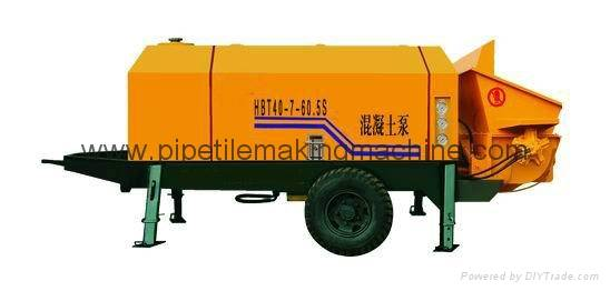 20-60m3/h Diesel Engine Trailer Concrete Pump for sale with CE Certificate