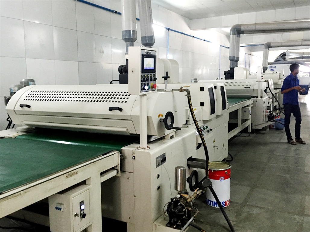 uv coating production line for furniture
