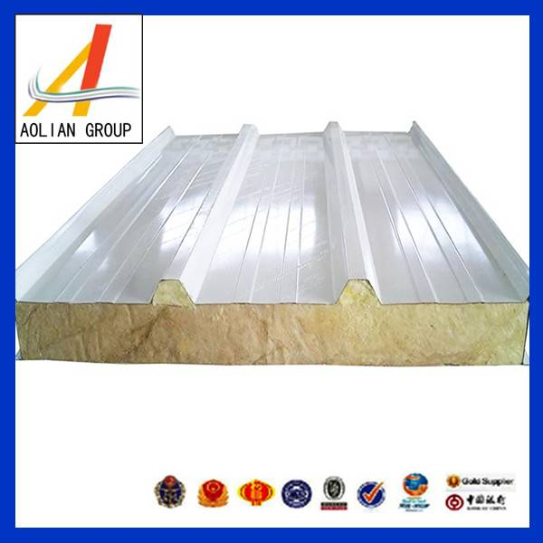 High quality fire proof rock wool sandwich panel for prefabricated house