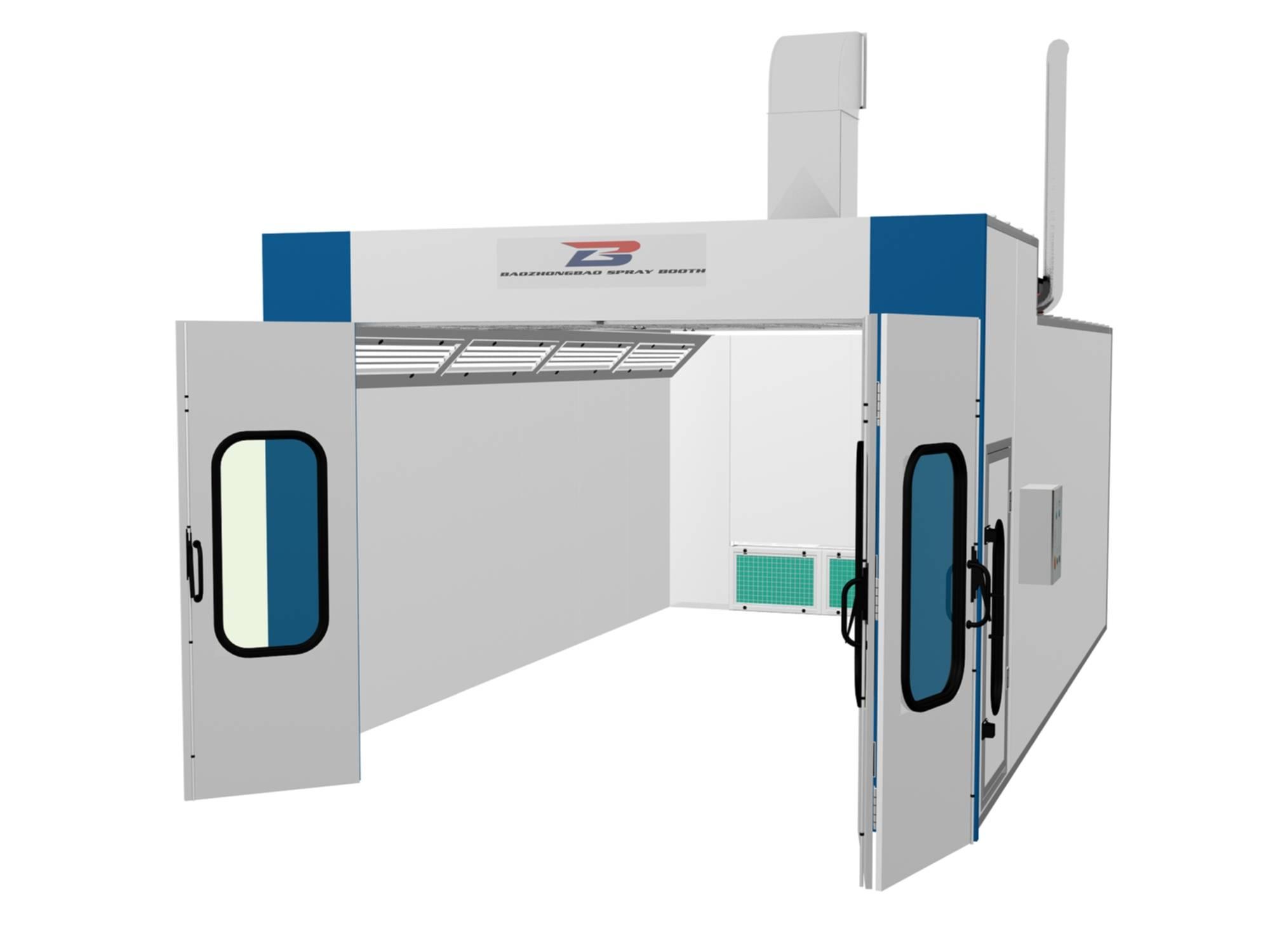 BZB-1000 Spray Booth(Semi-Downdraft, exhuast through back)