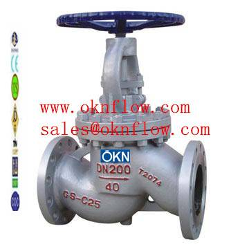 12  DIN 1.0619 flange globe valve