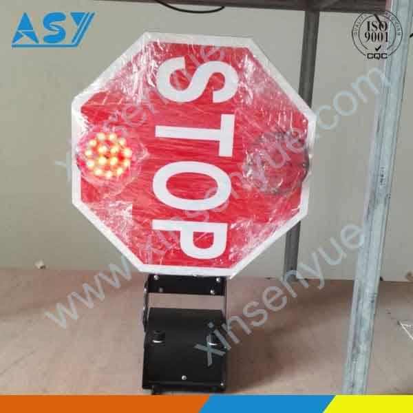 School bus traffic stop ahead lights signal