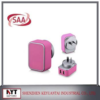 SAA certified DC 5V 3.1A mobile phone chargers