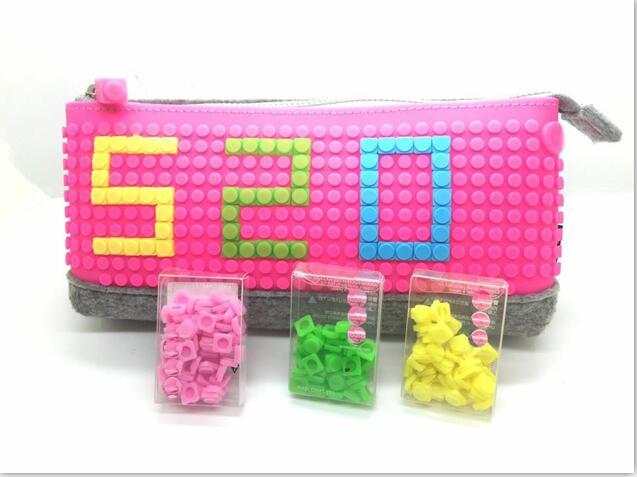silicone Cosmetic Bag /popular silicone pencil bag