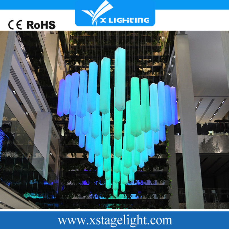 Crystal column led stage lights for bar/ktv/event/disco