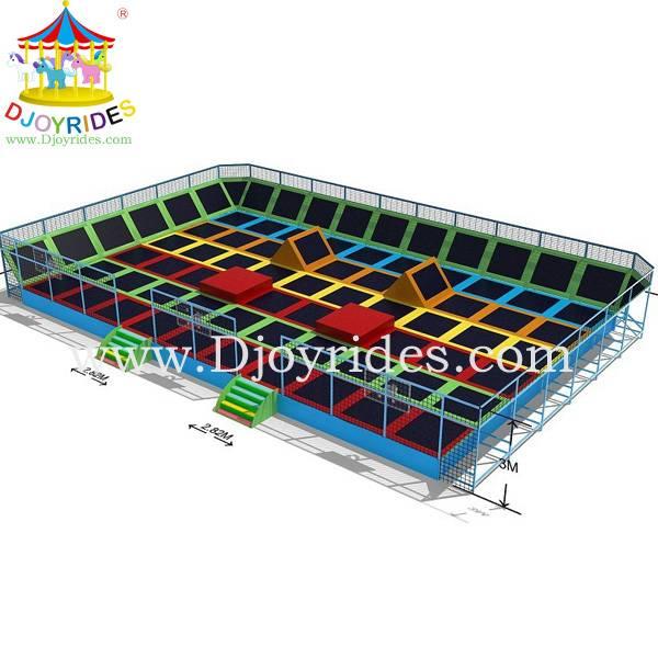 jumping trampolines